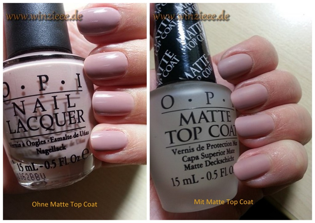 Opi Matte Top Coat Vergleich 1