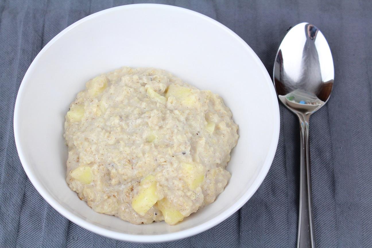 Porridge Apfel Zimt Vanille