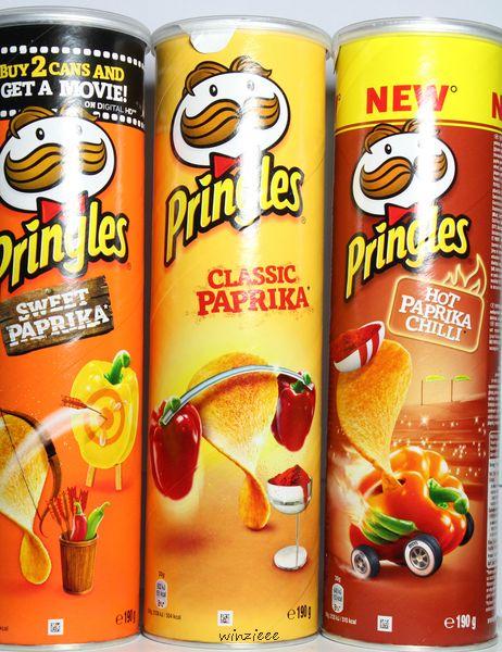 Pringles Paprika Trio