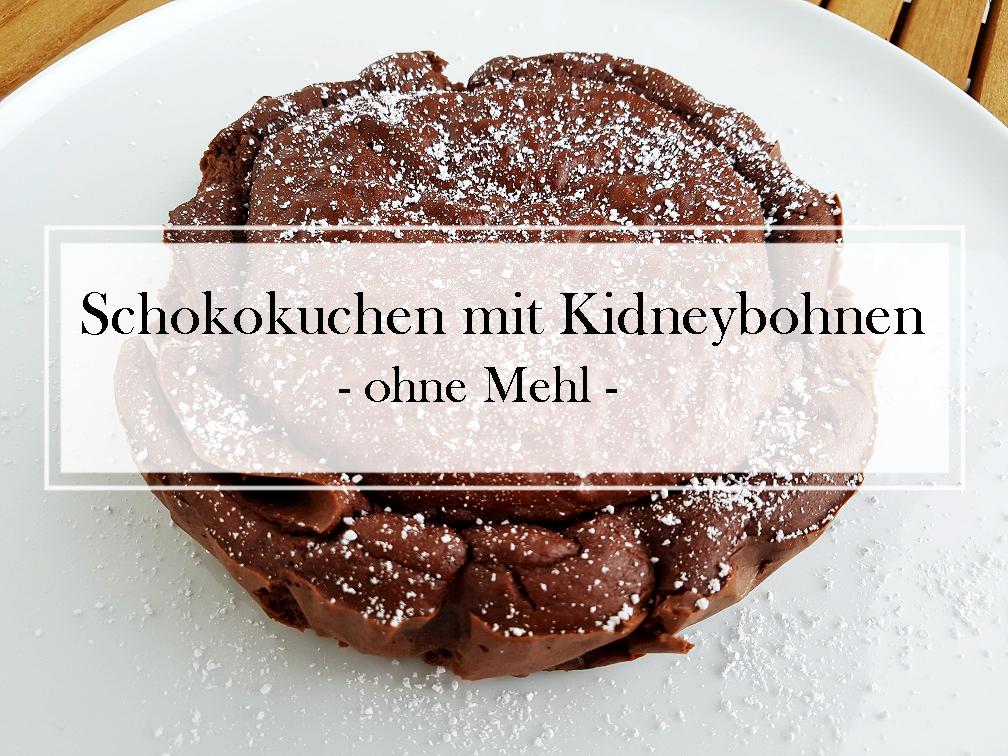 Schokokuchen mit Kidneybohnen ohne Mehl