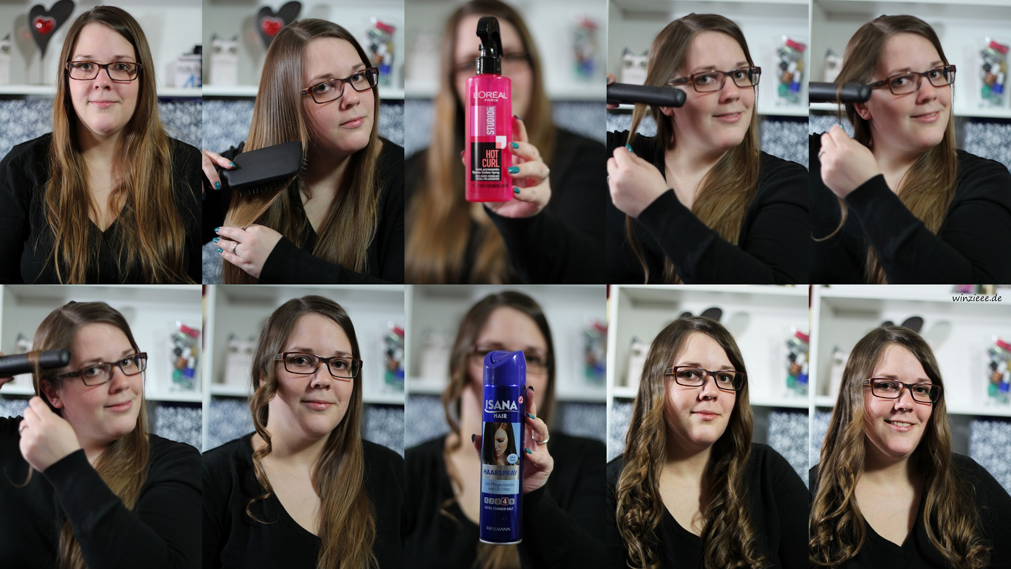 Tutorial Locken mit ghd Glaetteisen