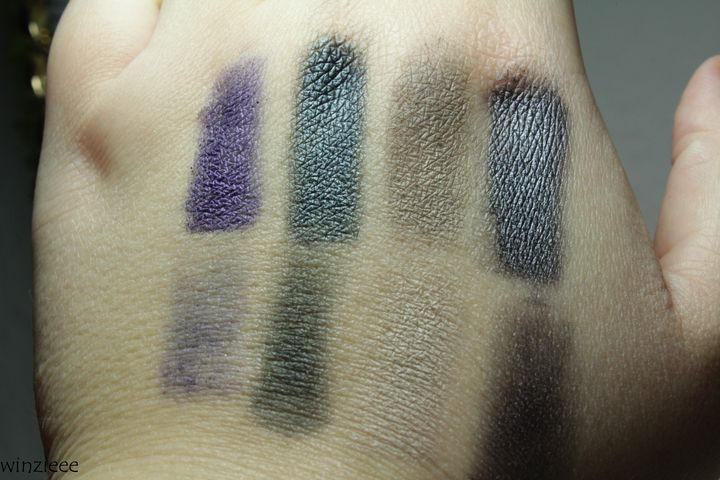 essence dark romance Swatch Lidschatten 2