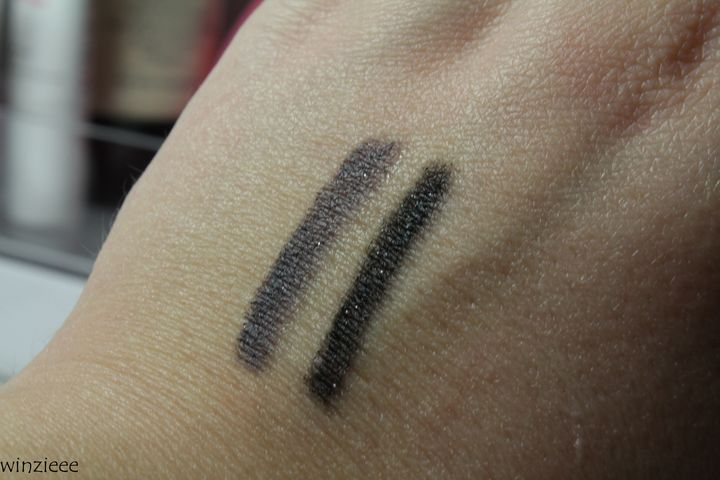 essence dark romance Swatch eye pencil