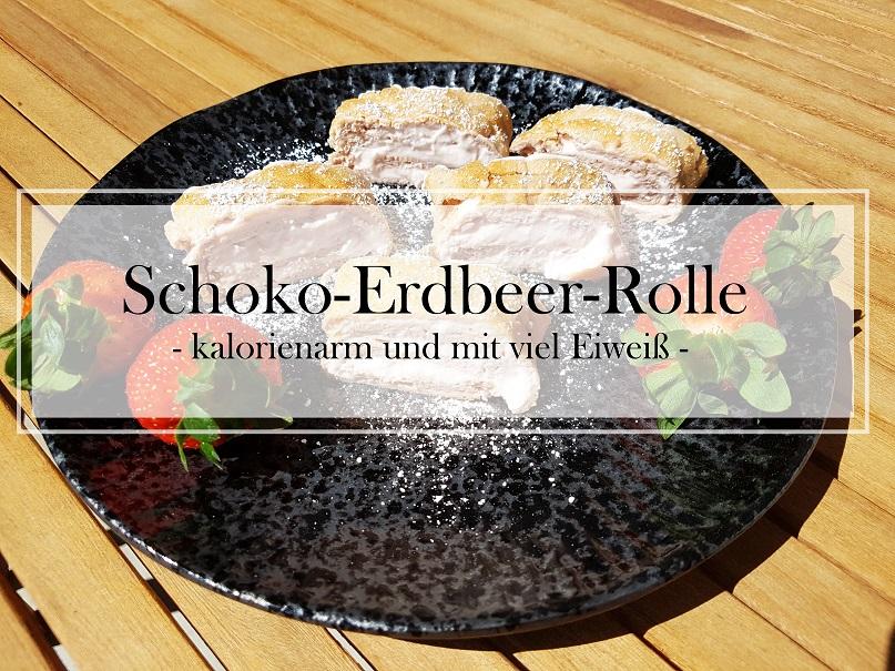 Schoko-Erdbeer-Rolle