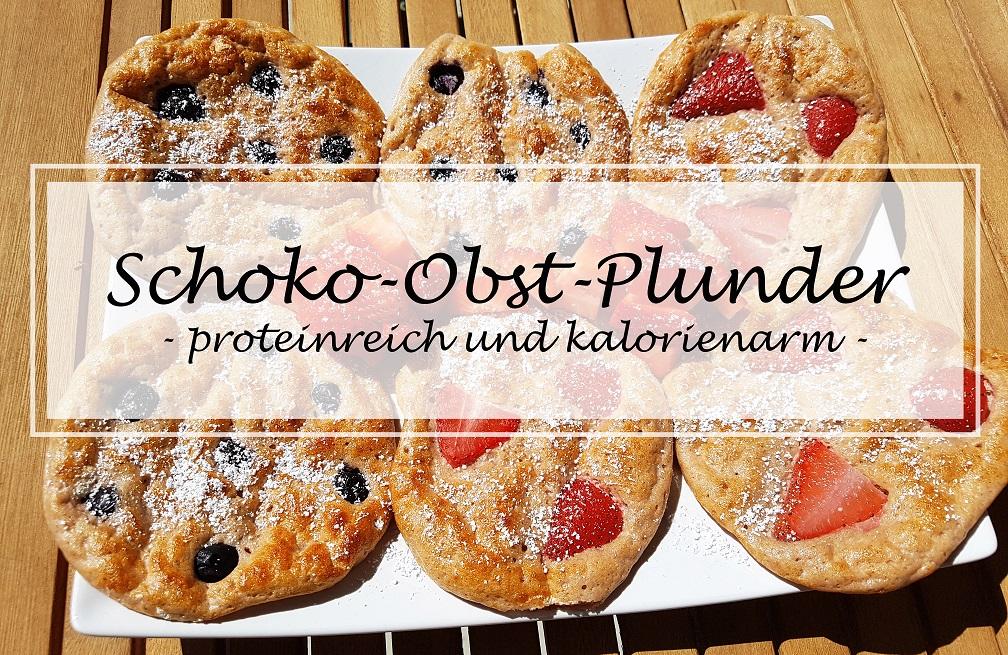 kalorienarme proteinreiche Plunder